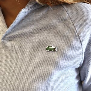 Lacoste Tops - Lacoste Grey Hooded Long Sleeve Shirt